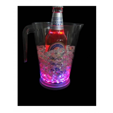Ultra Plastic Colour Changing LED Jug Pitcher 48oz 1400ml Glowing Party Event