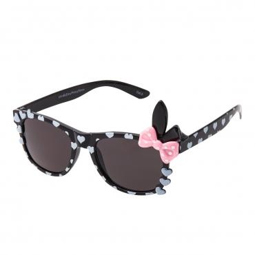 Black Childrens Bunny Bow Classic Sunglasses Kids Girls Boy Retro Heart Shades UV400 UVA UVB Protection Comfortable Fashion Glasses