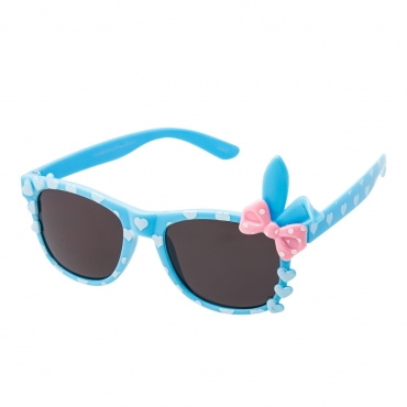 Blue Childrens Bunny Bow Classic Sunglasses Kids Girls Boy Retro Heart Shades UV400 UVA UVB Protection Comfortable Fashion Glasses