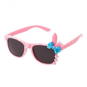 Pink Childrens Bunny Bow Classic Sunglasses Kids Girls Boy Retro Heart Shades UV400 UVA UVB Protection Comfortable Fashion Glasses