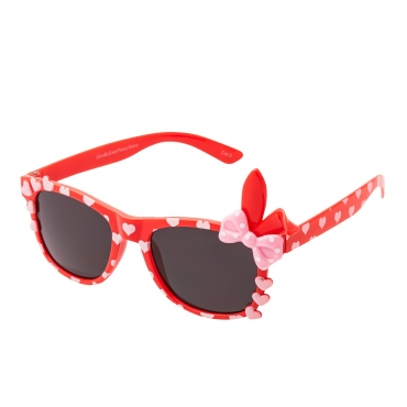 Red Childrens Bunny Bow Classic Sunglasses Kids Girls Boy Retro Heart Shades UV400 UVA UVB Protection Comfortable Fashion Glasses