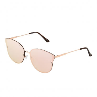 Rose Gold with Pink Mirrored Rimless Lenses Ladies Oversized Sunglasses Womens Oversized Sunglasses Ladies Sunglasses Large Retro Sunglasses for Women UV400 UVA Vintage Classic Oversized Sunglasses Women Shades Eyewear Sun Glasses