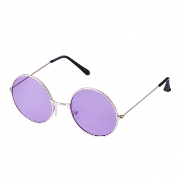 Ultra Gold Frame with Purple Lenses Adults Retro Round Large John Lennon Style Sunglasses Classic Men Women Vintage Retro UV400 Glasses Unisex