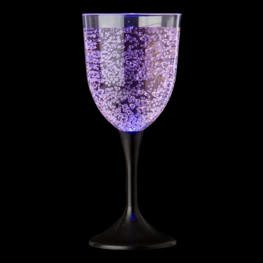 Ultra 1 to 8 LED Wine Glass Light Up LED Light Plastic Wine Glasses Ideal for Light Up Presents Red Wine Glasses White Wine Glasses or as Cocktail Glasses or Gin Glass Novelty Wine Glass Champagne Flutes