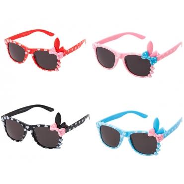 Childrens Sunglasses Bunny Bow Classic Glasses UV400 Kids Girls Boy Retro Heart