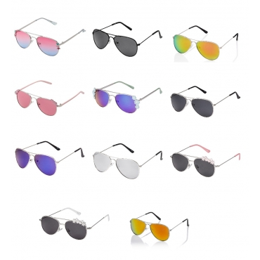 Childrens Sunglasses Pilot Style Glasses Kids Boys Girls Classic UV400 Shades