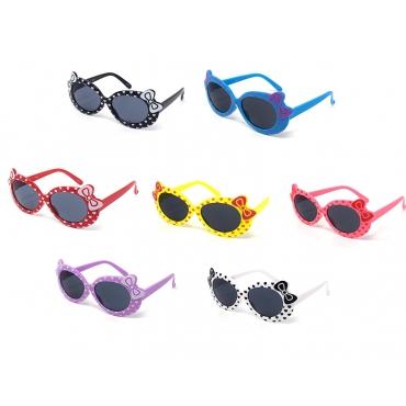 Girls Sunglasses Childrens Classic Cute Retro Bow Heart Glasses UV400 Protection