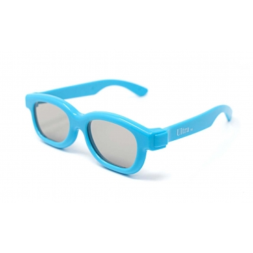 Packs of 1 to 5 Blue Childrens Passive 3D Glasses for Kids Universal for Passive TVs Cinema and Projectors Such as RealD Toshiba LG Panasonic