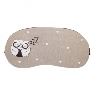 Owl Plush Sleep Eye Masks Animal Mask Detachable Reusable Ice Pack Hot Cold Gel Compress for Tired Puffy Eyes Travel Sleeping Men Women Children