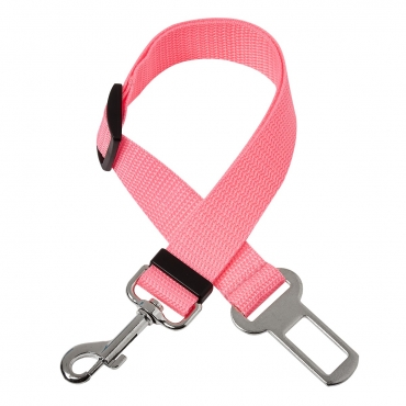 Dog Seat Belt Adjustable Pet Car Seatbelt Dog Harness Safety Leads Cat Vehicle Travelling Leash 40cm to 53cm Dog Seat Belt for Car Dog Seatbelt Car Restraint Pet Accessories for Dogs-2 Pink Belts