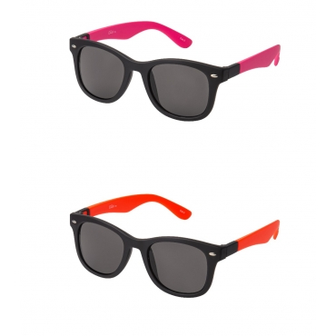 Clix Pink and Orange Dual Frames Adults Classic Sunglasses with Changeable Arms Mens Womens UV400 Glasses Retro Vintage Eyewear Shades