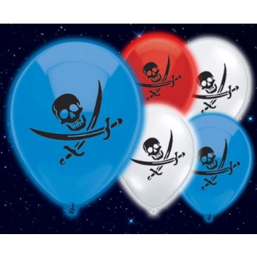 Packs of 5 to 50 Pirates Illoom Light Up LED Balloons Swashbuckling Balloons High Seas As Seen on Dragons Den Light Up Balloons Party Decor Luminous Balloons