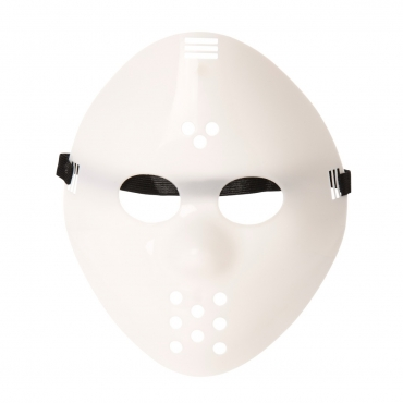 Ultra Original White Adults Mask Halloween Killer Mask Hockey Mask Festival Hacker Masks Fancy Dress Costume vS Cosplay Horror Mens Womens Halloween Scary Face Mask Adult Masks Childs Masks