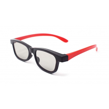 Red and Black Adults Passive 3D Glasses universal stylish mixed colour design for all Passive TVs Cinema and Projectors such as RealD Toshiba LG Panasonic and more