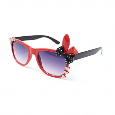 Ultra Childrens Bunny Heart And Bow Gradient Lens Classic Frames Costume Glasses