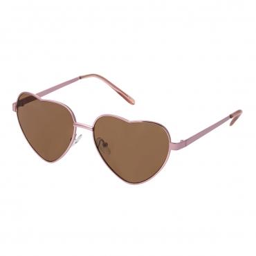Womens Pink Frame Brown Lenses Heart Shaped Sunglasses Stylish Designer Style Sunglasses High Quality Retro UV400 Shades UVA UVB Protection