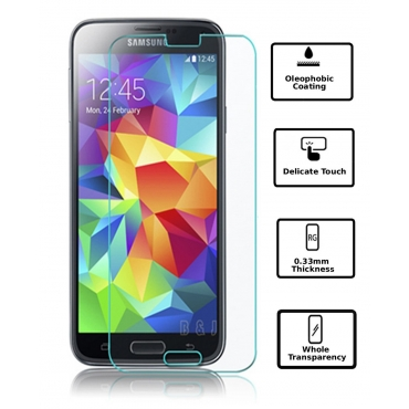 Ultra Premium 0.4ml Tempered Glass Screen Protector for Samsung Galaxy S5 i9600 phones