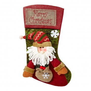 Ultra Santa Claus Christmas Stockings Large 3D Plush Xmas Sock Sack Gift Bag for Tree Christmas Stocking Pouch Bag Candy Bag Christmas Decorations For Kids Adults Christmas Decoration for Fireplace