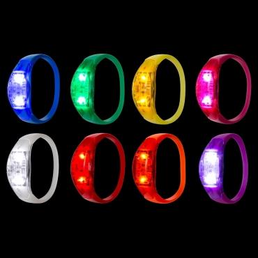 Ultra LED Sound Activated Bracelet Light Up Flashing Bracelets Adult Children