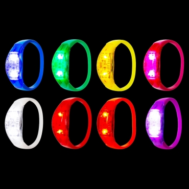 Ultra LED Sound Activated Bracelets Voice Control Light Up Flashing Adults Kid