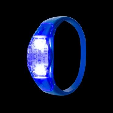 Blue LED Sound Activated Bracelet Light Up Flashing Bracelets Adult Children