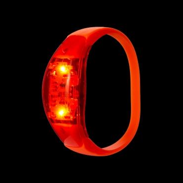 Orange LED Sound Activated Bracelet Light Up Flashing Bracelets Adult Children