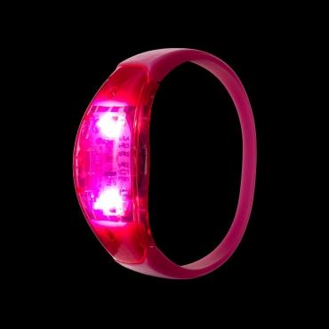 Pink LED Sound Activated Bracelet Light Up Flashing Bracelets Adult Children
