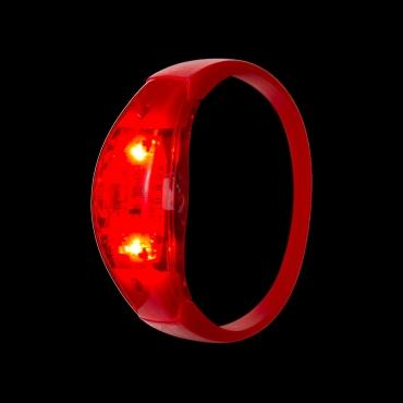 Red LED Sound Activated Bracelet Light Up Flashing Bracelets Adult Children