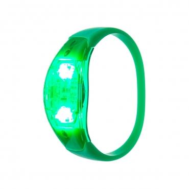 Ultra Green LED Sound Activated Bracelet Light Up Flashing Bracelets Adult Children