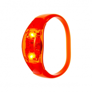 Ultra Orange LED Sound Activated Bracelet Light Up Flashing Bracelets Adult Children