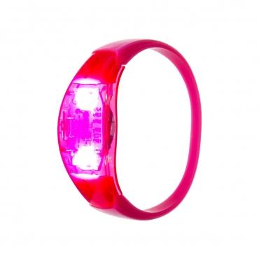Ultra Pink LED Sound Activated Bracelet Light Up Flashing Bracelets Adult Children