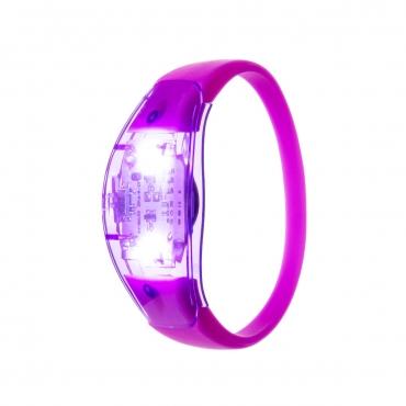 Ultra Purple LED Sound Activated Bracelet Light Up Flashing Bracelets Adult Children