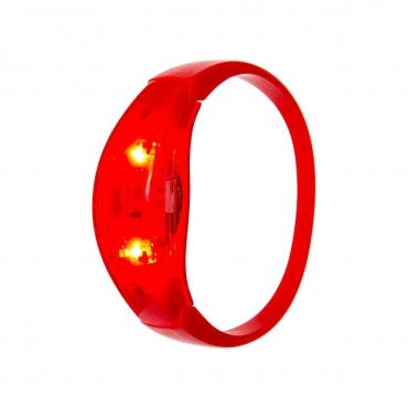 Ultra Red LED Sound Activated Bracelet Light Up Flashing Bracelets Adult Children