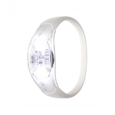 Ultra White LED Sound Activated Bracelet Light Up Flashing Bracelets Adult Children