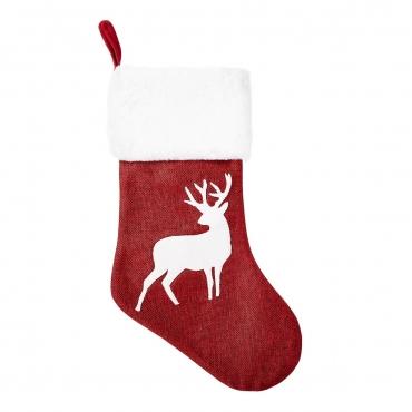 Ultra Reindeer Traditional Christmas Stockings Large 3D Plush Xmas Sock Sack Gift Bag for Tree Christmas Stocking Pouch Bag Candy Bag Christmas Decorations Kids Adults Stag Christmas Decoration