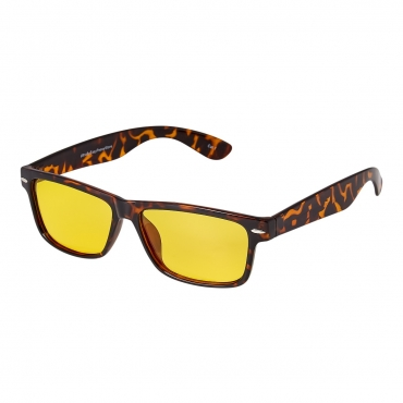 Ultra Tortoise Shell Classic Style Large Over Glasses Night Driving Glasses Men's and Women's Polarised Sunglasses Anti Glare Amber Lens UV400 Polarized Sunglasses Yellow Tinted Glasses Anti Glare Dazzle Golf Sailing