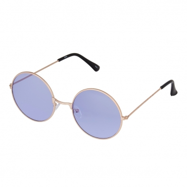 Ultra Gold Frame with Lilac Lenses Adults Retro Round Sunglasses Style John Lennon Sunglasses Vintage Look Quality UV400 Sunglasses Elton John Lennon Glasses Men Women Unisex Classic Eyewear