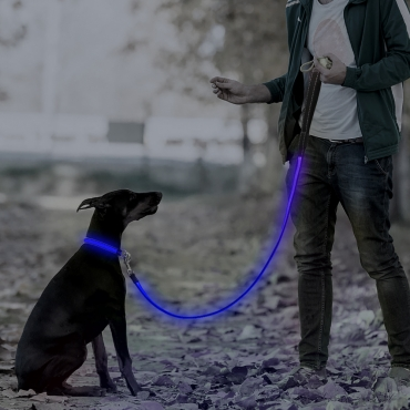 Ultra USB Rechargeable LED Dog Lead Weatherproof Night Safety Flashing Light