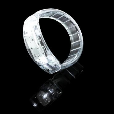 White Multicolour LED Flashing Bracelets Glowing Push Button Light Up Adult Children