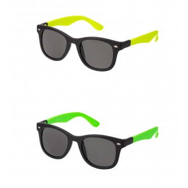 Clix Green and Yellow Dual Frames Adults Classic Sunglasses with Changeable Arms Mens Womens UV400 Glasses Retro Vintage Eyewear Shades
