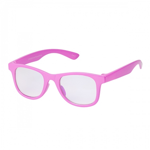 Ultra Pink Childrens Anti Blue Light Blocking Eye Strain Glasses Boys Girls Classic Kids Unisex Clear Transparent Gaming Computer Reading Lenses Recommended Age 3 to 8 Years