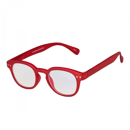 Ultra Deep Red Horn Rimmed Childrens Anti Blue Light Blocking Eye Strain Glasses Boys Girls Classic Kids Recommended Age 3 to 8 Years