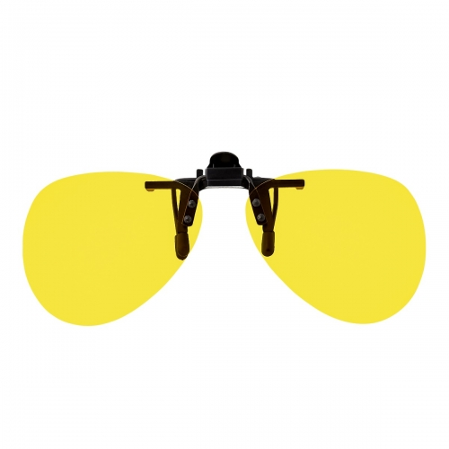 Ultra Oval Clip On Flip Up Glasses Night Driving Glasses Men's and Women's Polarised Sunglasses Anti Glare Amber Lens UV400 Polarized Sunglasses Yellow Tinted Glasses Anti Glare Cycling Golf Sailing