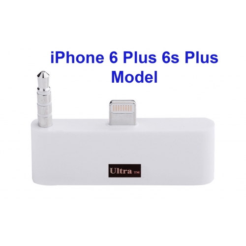 "Ultra ® New 5.5 White Audio 30 pin to 8 Pin Adapter Compatible with Lightening Ports Audio Adapter in White for Iphone 6 Plus 6s Plus 5.5"" Mobile phones and devices"