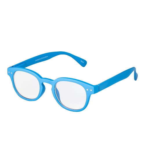 Ultra Powder Blue Horn Rimmed Childrens Anti Blue Light Blocking Eye Strain Glasses Boys Girls Classic Kids Recommended Age 3 to 8 Years