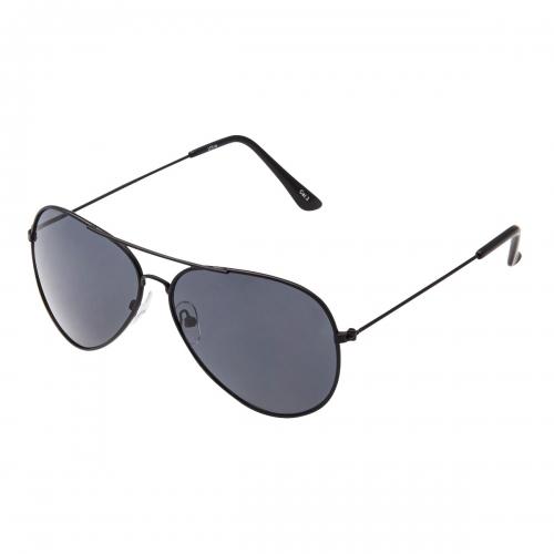 Ultra Black with Black Lenses Adult Pilot Style Sunglasses Men Women Classic Vintage Retro Glasses UV400 Metal Shades Eyewear