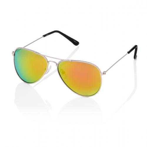 Ultra Silver with Pink Sunset Lenses Adult Pilot Style Sunglasses Men Women Classic Vintage Retro Glasses UV400 Metal Shades Eyewear