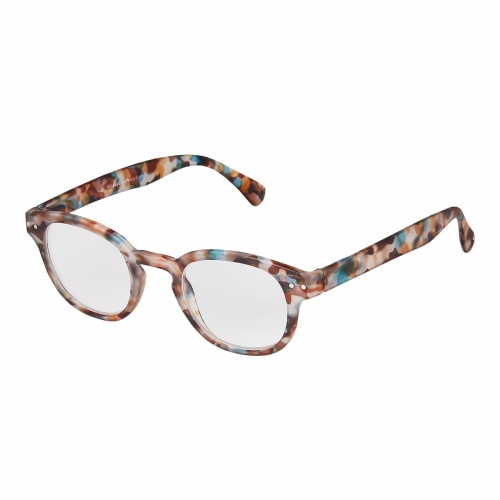 Blue Tortoise Shell Adults Horn Rimmed Reading Glasses Mens Womens Non Prescription Eyewear 1.5 to 3.5 Dioptre
