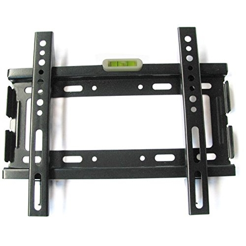 "Ultra ® Heavy Duty TV Bracket 10"" to 37"" Low Profile 26mm Fit for Flat Screen Tv Monitor Bracket TV Mount Premium Quality Mount Made from SPCC Steel including a Spirit Level Max Load 40kgs/88lbs VESA 50x50mm upto 200x200mm Specification"