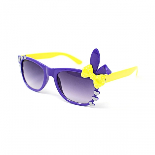 Ultra Purple Childrens Bunny Heart And Bow Style Gradient Lens Classic Frames  Costumes Parties Glasses Kids Nerds Geek World Book Day Cosplay